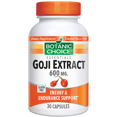 Botanic Choice Goji Extract 600 mg Dietary Supplement Capsules - 30 ea.