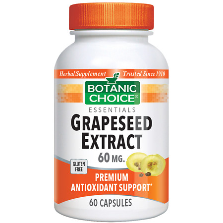 Botanic Choice Grapeseed Extract 60 mg Herbal Supplement Capsules - 60 ea.