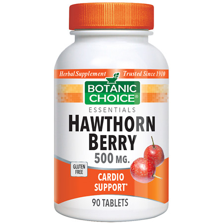Botanic Choice Hawthorn Berry 500 mg Herbal Supplement Tablets - 90 ea.