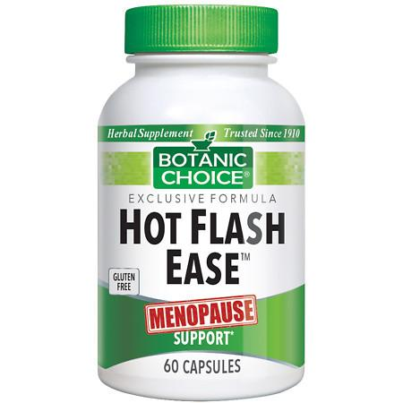 Botanic Choice Hot Flash Ease Menopause Support Dietary Supplement Capsules - 60 ea.