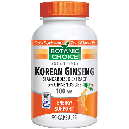 Botanic Choice Korean Ginseng 100 mg Herbal Supplement Capsules - 90 ea.