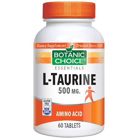 Botanic Choice L-Taurine 500 mg Dietary Supplement Tablets - 60 ea.