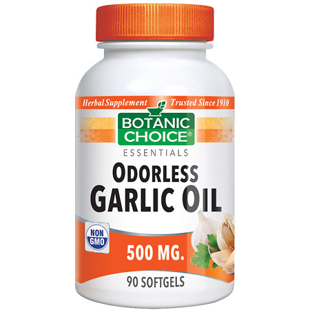 Botanic Choice Odorless Garlic Oil 500 mg Herbal Supplement Softgels - 90 ea.