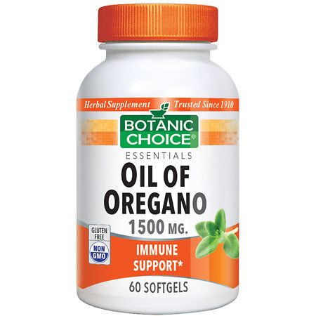 Botanic Choice Oil of Oregano Extract 1500 mg Herbal Supplement Softgels - 60 ea.
