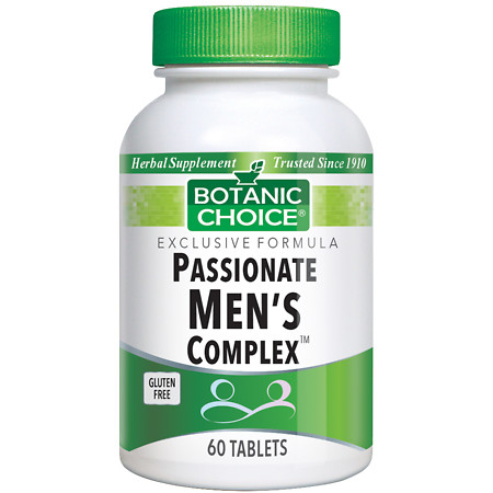 Botanic Choice Passionate Men's Complex Herbal Supplement Tablets - 60 ea.