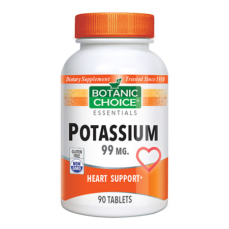 Botanic Choice Potassium 99 mg Dietary Supplement Tablets - 90 ea