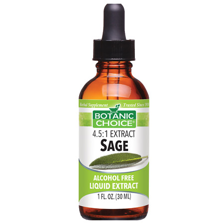 Botanic Choice Sage Herbal Supplement Liquid - 1 oz.