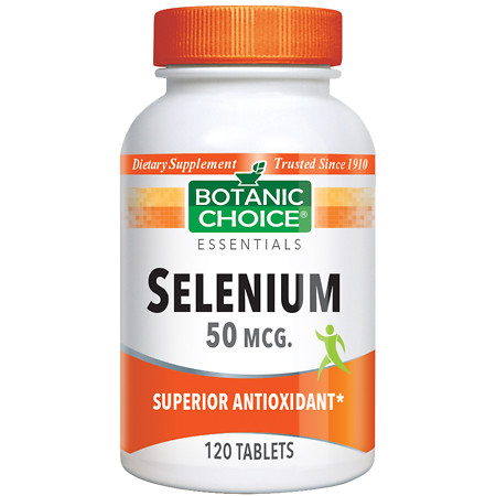 Botanic Choice Selenium 50 mcg Dietary Supplement Tablets - 120 ea.