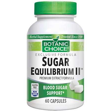 Botanic Choice Sugar Equilibrium II Herbal Supplement Capsules - 60 ea.