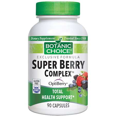 Botanic Choice Super Berry Complex Dietary Supplement Capsules - 90 ea.