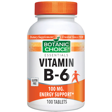 Botanic Choice Vitamin B-6 100 mg Dietary Supplement Tablets - 100 ea.