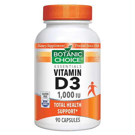 Botanic Choice Vitamin D3 1000 IU Dietary Supplement Capsules - 90 ea