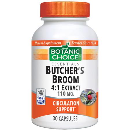 Botanic Health Butcher's Broom Extract Capsules - 30 ea