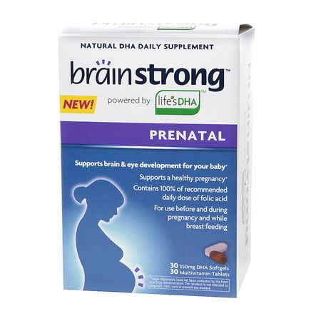 BrainStrong Natural DHA 350 mg & Multivitamin Dietary Supplement Softgels & Tablets - 60 ea