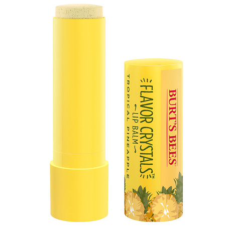 Burt's Bees Flavor Crystal Lip Balm Tropical Pineapple - 0.15 oz.