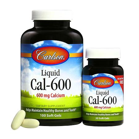 Carlson Liquid CAL-600 Calcium 600 mg Softgels - 65 ea