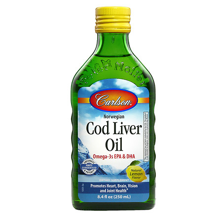 Carlson Norwegian Cod Liver Oil Lemon - 8.4 oz.