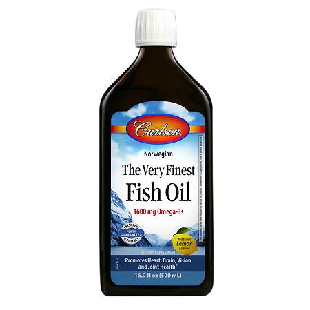 Carlson The Very Finest Fish Oil Omega-3's DHA & EPA Lemon - 16.9 fl oz