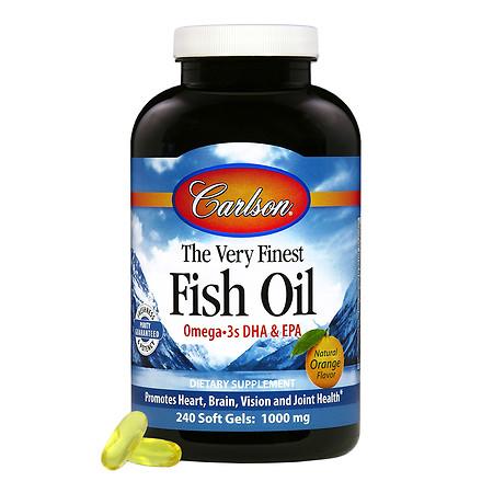 Carlson The Very Finest Fish Oil, softgels Orange - 240 ea