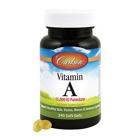Carlson Vitamin A 15,000 IU Palmitate, Softgels - 240 ea