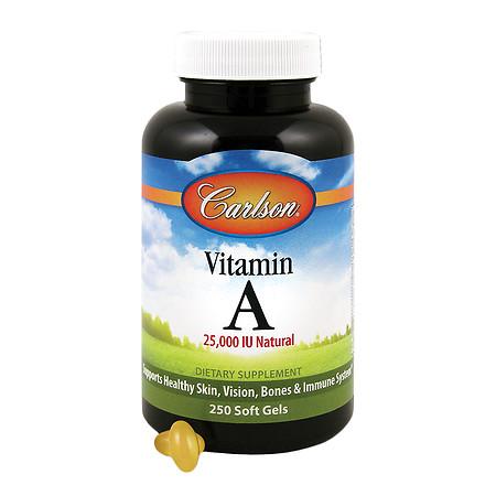 Carlson Vitamin A 25,000 IU Natural, Softgels - 250 ea