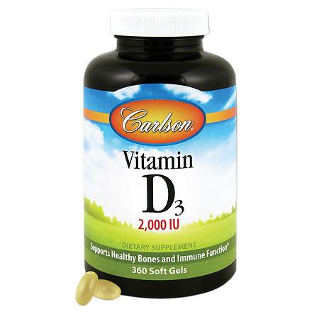 Carlson Vitamin D3 2000 IU, softgels - 360 ea