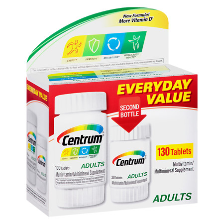 Centrum Adult, Complete MultivitaminMultimineral Supplement Tablet - 130 ea