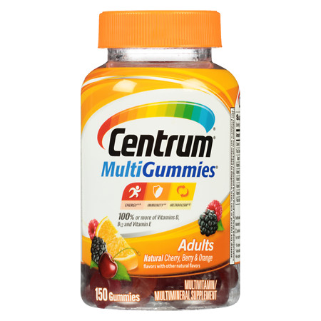 Centrum Adult, MultiGummies MultivitaminMultimineral Supplement Gummies Assorted - 150 ea