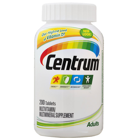 Centrum Adults, Multivitamin, Tablets - 200 ea