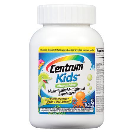 Centrum Kids Kid, Chewables Complete MultivitaminMultimineral Supplement Tablet Cherry - 80 ea