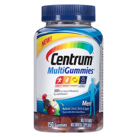 Centrum Men, MultivitaminMultimineral Supplement Gummies Cherry - 150 ea