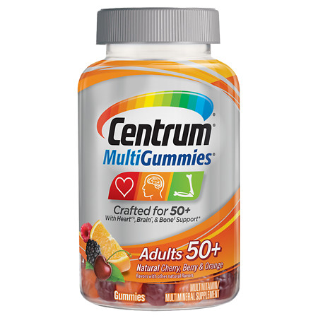 Centrum Multivitamin Gummies for Adults 50+ Assorted - 120 ea