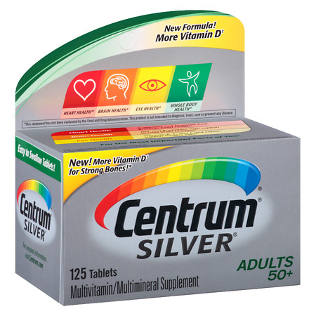 Centrum Silver Adult Age 50+, Complete MultivitaminMultimineral Supplement Tablet - 125 ea