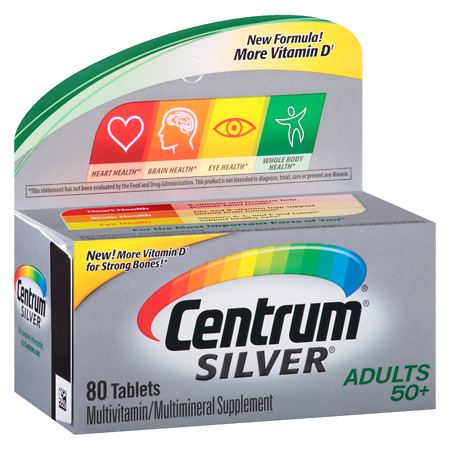 Centrum Silver Adult Age 50+, Complete MultivitaminMultimineral Supplement Tablet - 80 ea