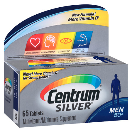 Centrum Silver Men Age 50+, Complete MultivitaminMultimineral Supplement Tablet - 65 ea