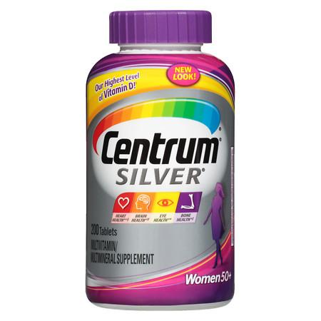 Centrum Silver Women Age 50+, Complete Multivitamin Supplement Tablet - 200 ea