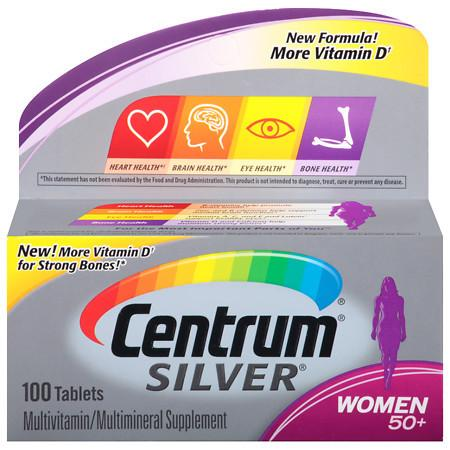 Centrum Silver Women Age 50+, Complete MultivitaminMultimineral Supplement Tablet - 100 ea