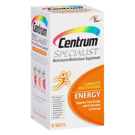 Centrum Specialist Complete Multivitamin: Energy, Tablets - 60 ea