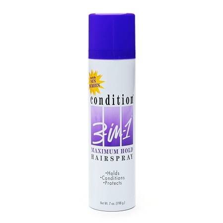 Condition 3-in-1 Maximum Hold Hairspray with Sun Screen - 7 oz.