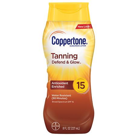 Coppertone Tanning Lotion Sunscreen, SPF 15 - 8 fl oz