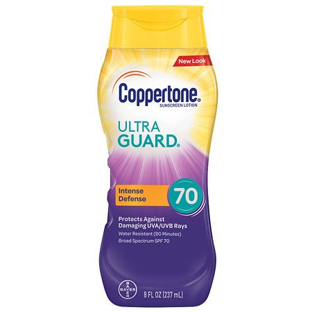 Coppertone Ultra Guard Sunscreen Lotion, SPF 70 - 8 fl oz