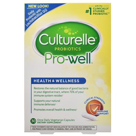 Culturelle Probiotic Health & Wellness, Capsules - 30 ea