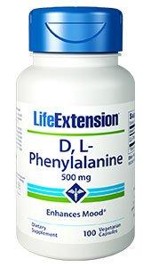 D,L-Phenylalanine Capsules, 500 mg, 100 vegetarian capsules