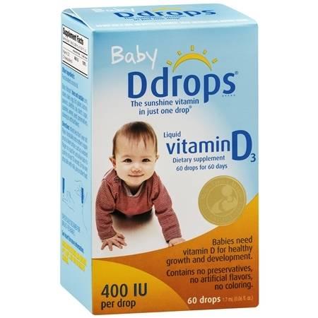 Ddrops Baby Vitamin D Drops 400 IU - 0.6 oz.