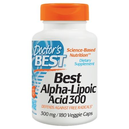Doctor's Best Best Alpha-Lipoic Acid, 300mg, Veggie Caps - 180 ea