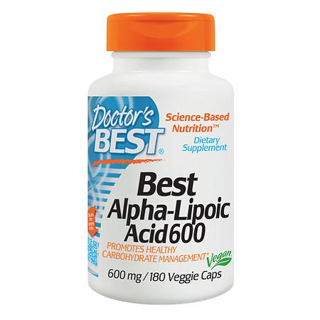 Doctor's Best Best Alpha-Lipoic Acid 600mg - 180 ea