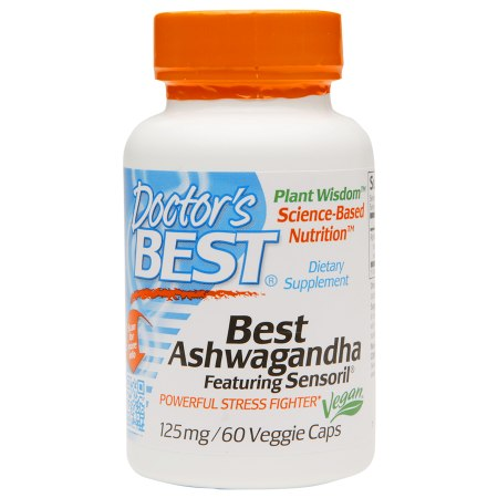 Doctor's Best Best Ashwagandha Featuring Sensoril, 125mg, Veggie Capsules - 60 ea
