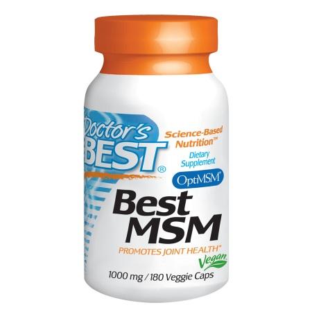Doctor's Best Best MSM, 1000mg, Veggie Caps - 180 ea