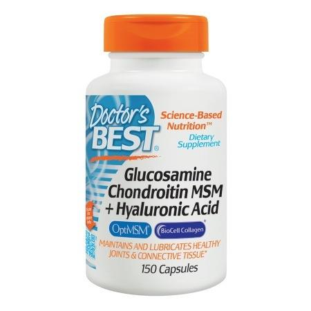 Doctor's Best Glucosamine Chondroitin MSM + Hyaluronic Acid, Capsules - 150 ea