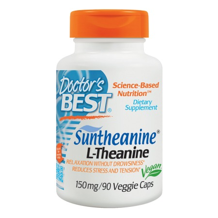 Doctor's Best Suntheanine L-Theanine, 150mg, Veggie Caps - 90 ea